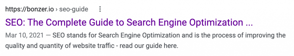 meta descriptions and page titles