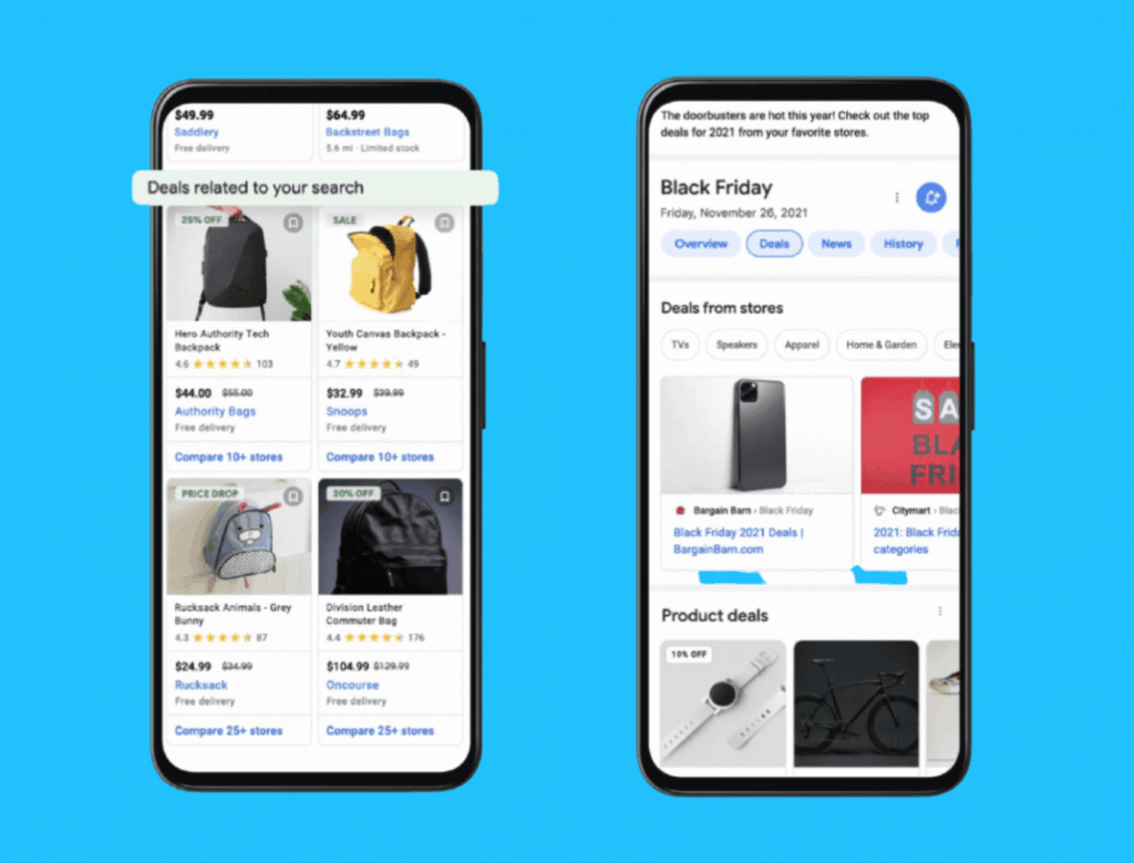 Google introduces free deals listings graphic