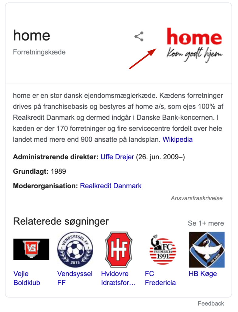 home knowledge panel