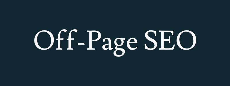off-page seo